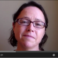 Kristy's meditation video screen shot